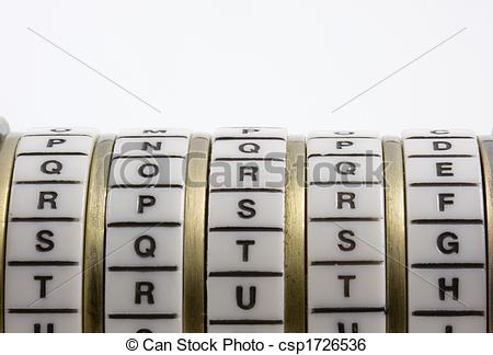 Stock Image of Password, keyword or combination.