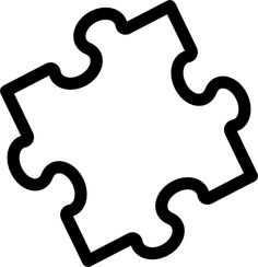 Puzzle Template Piece PNG image.