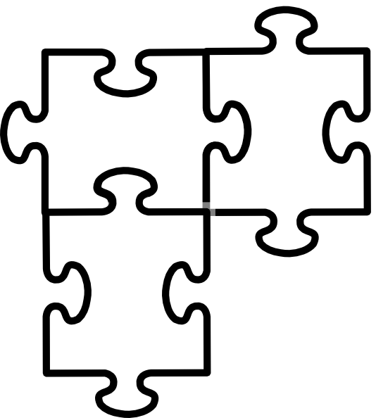Free clip art jigsaw puzzle pieces.