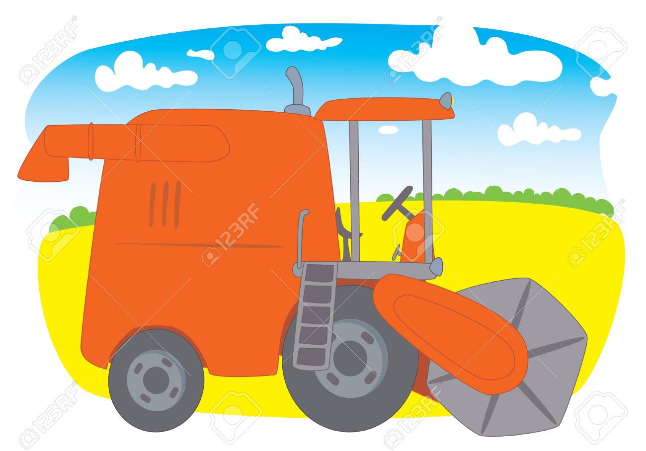 Free combine clipart.
