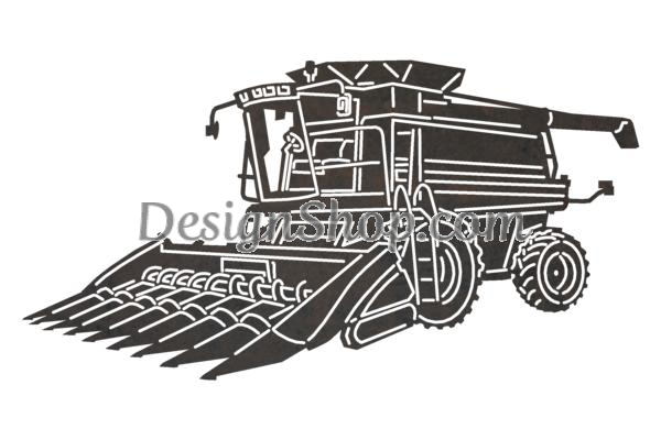 Combine Harvester DXF File for CNC.
