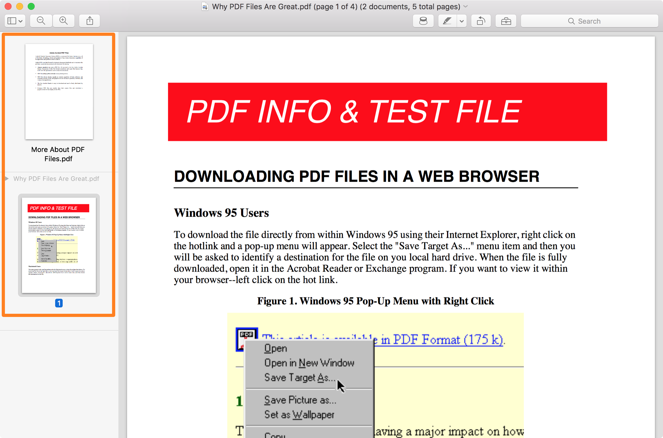 How to combine two PDF files into one with Preview on Mac.