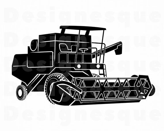 Combine Harvester #3 SVG, Wheat Harvester Svg, Combine Svg.