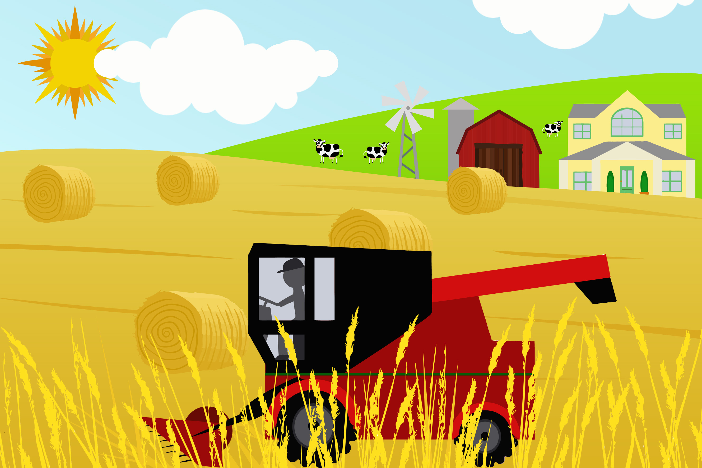 Clipart combine harvester.