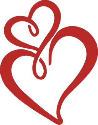 Two Hearts Graphics Clipart.