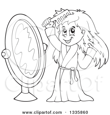 combing hair clipart black and white wwwpixsharkcom
