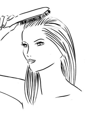 Combing hair clipart black and white 2 » Clipart Station.