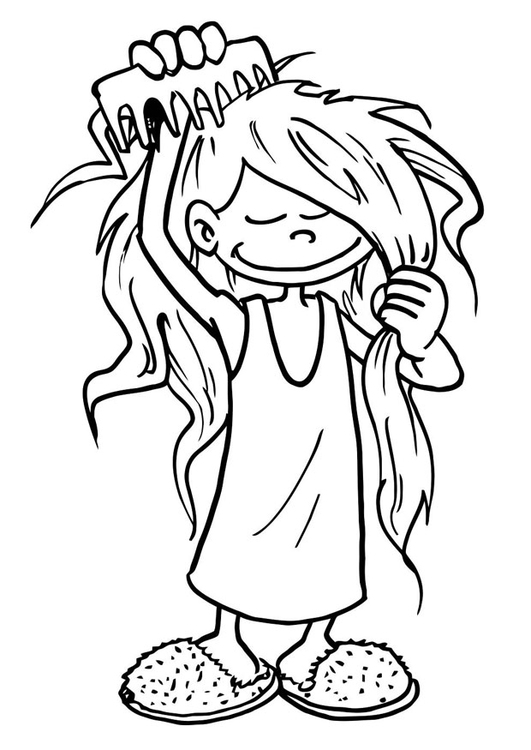 Combing hair clipart black and white 5 » Clipart Station.