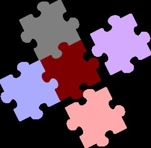 Jigsaw Piece Combination Clip Art.