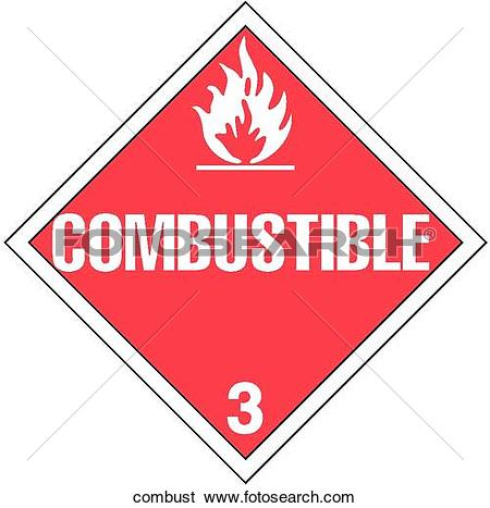 Stock Illustration of Combustible combust.