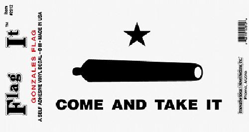 Come And Take It (Molon Labe) Sticker.