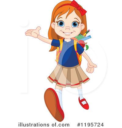 School Girl Clipart #1195724.