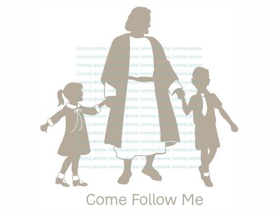 Come Follow Me LDS Clipart.