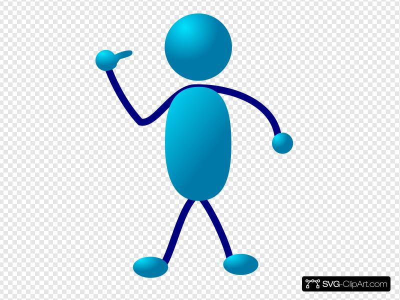 Stick Man Come Here Clip art, Icon and SVG.