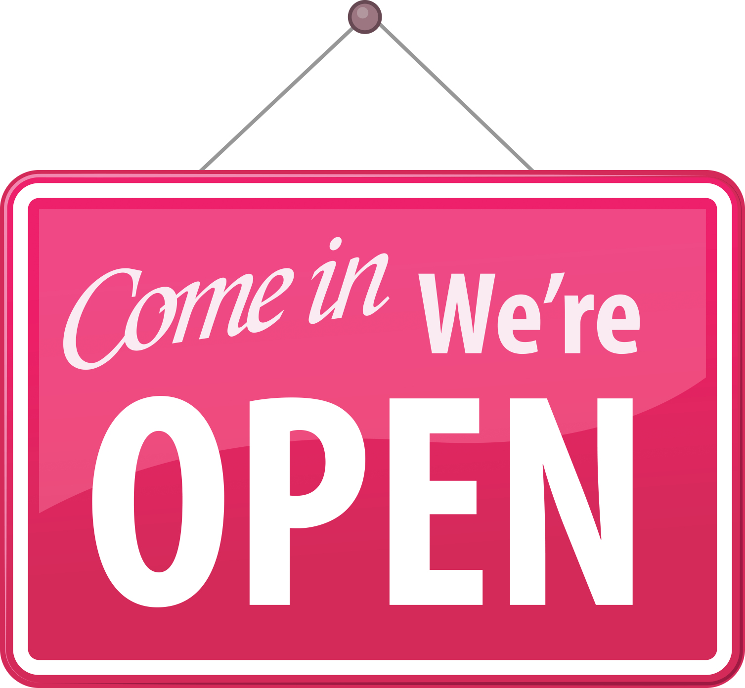 Come in, we\'re open!.