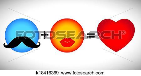 Clip Art of concept vector formula of love.