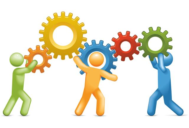 Team Of Working Together Clipart.