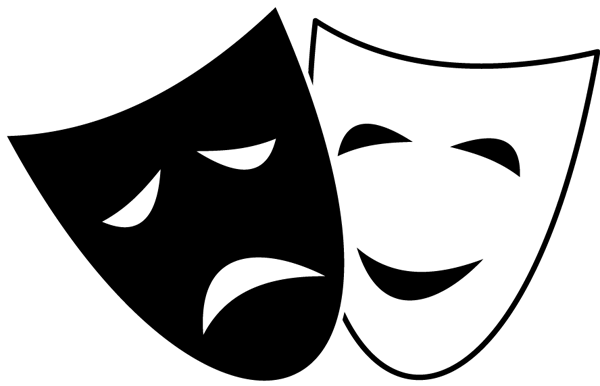 A Great Comedy and Tragedy Symbol Clip Art.