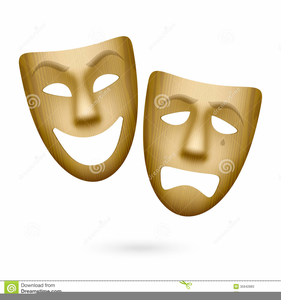 Free Clipart Comedy And Tragedy Masks.