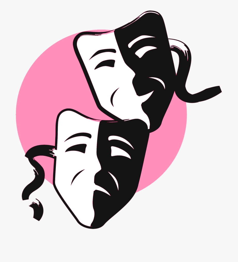 Free Download Comedy And Tragedy Masks Clipart Mask.