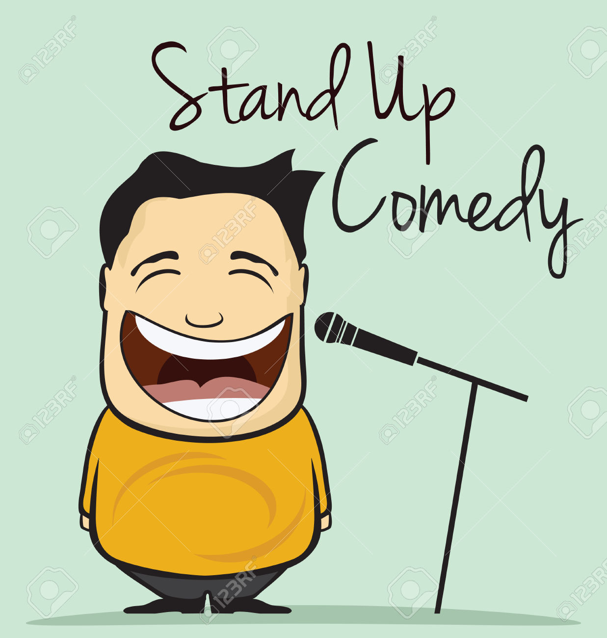 Stand up comedy clipart.