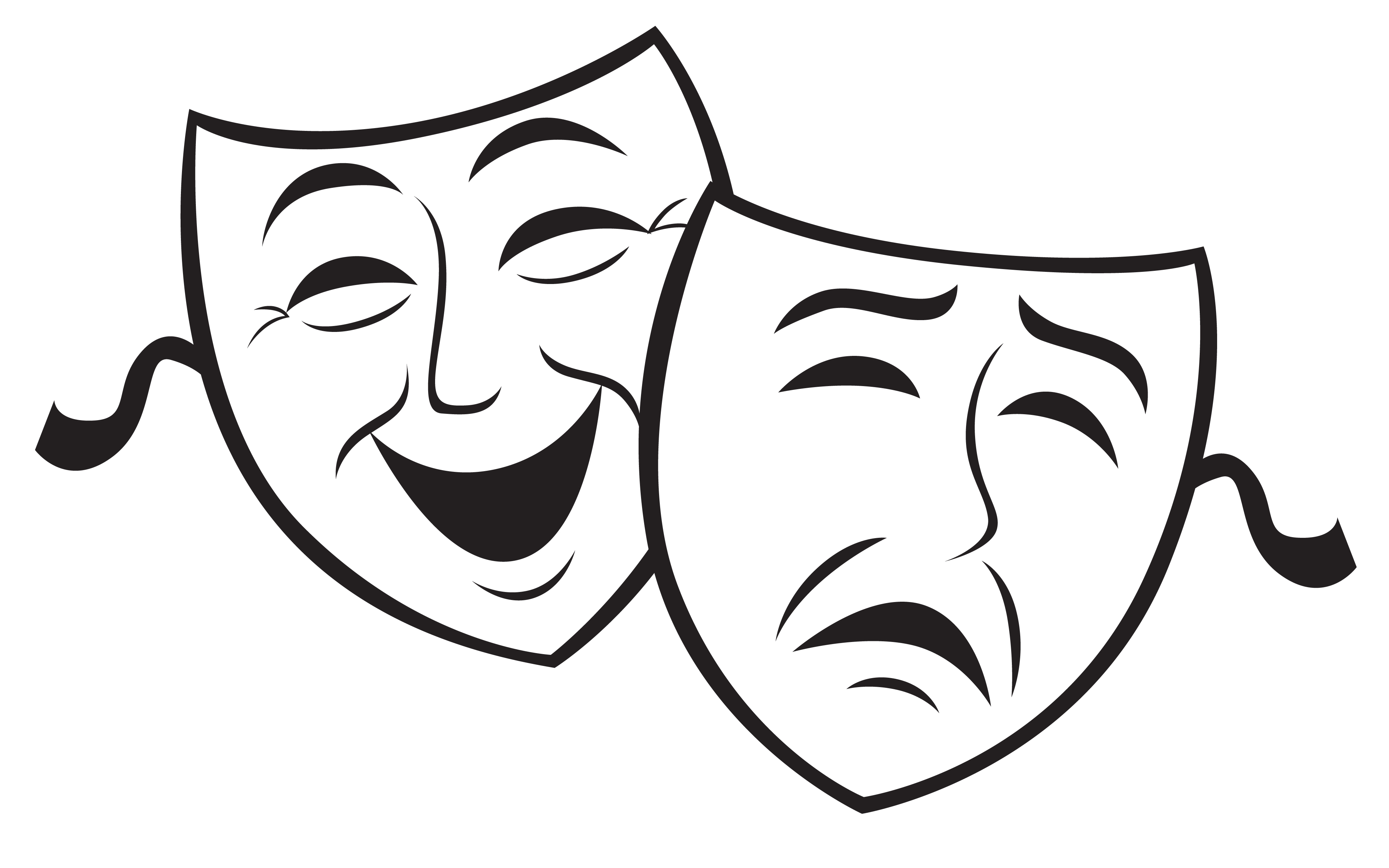 Comedy masks clipart.