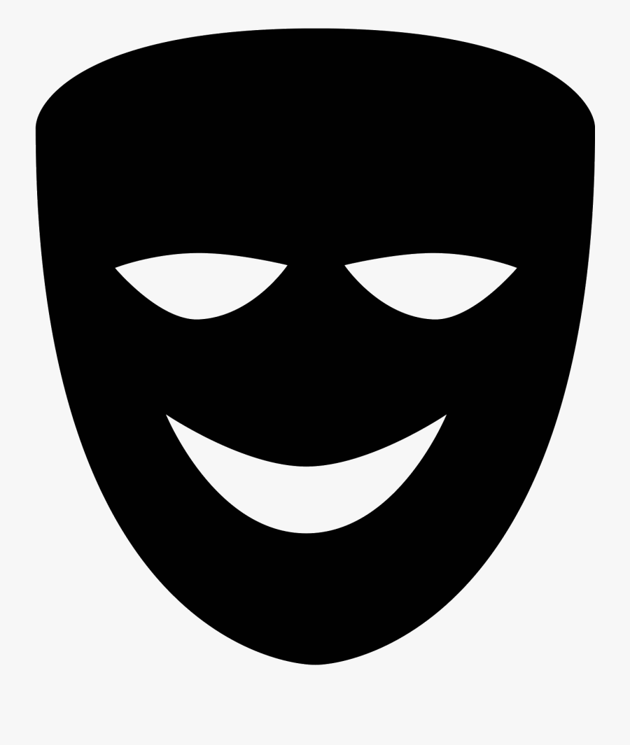 Theater Vector Laughing Mask.