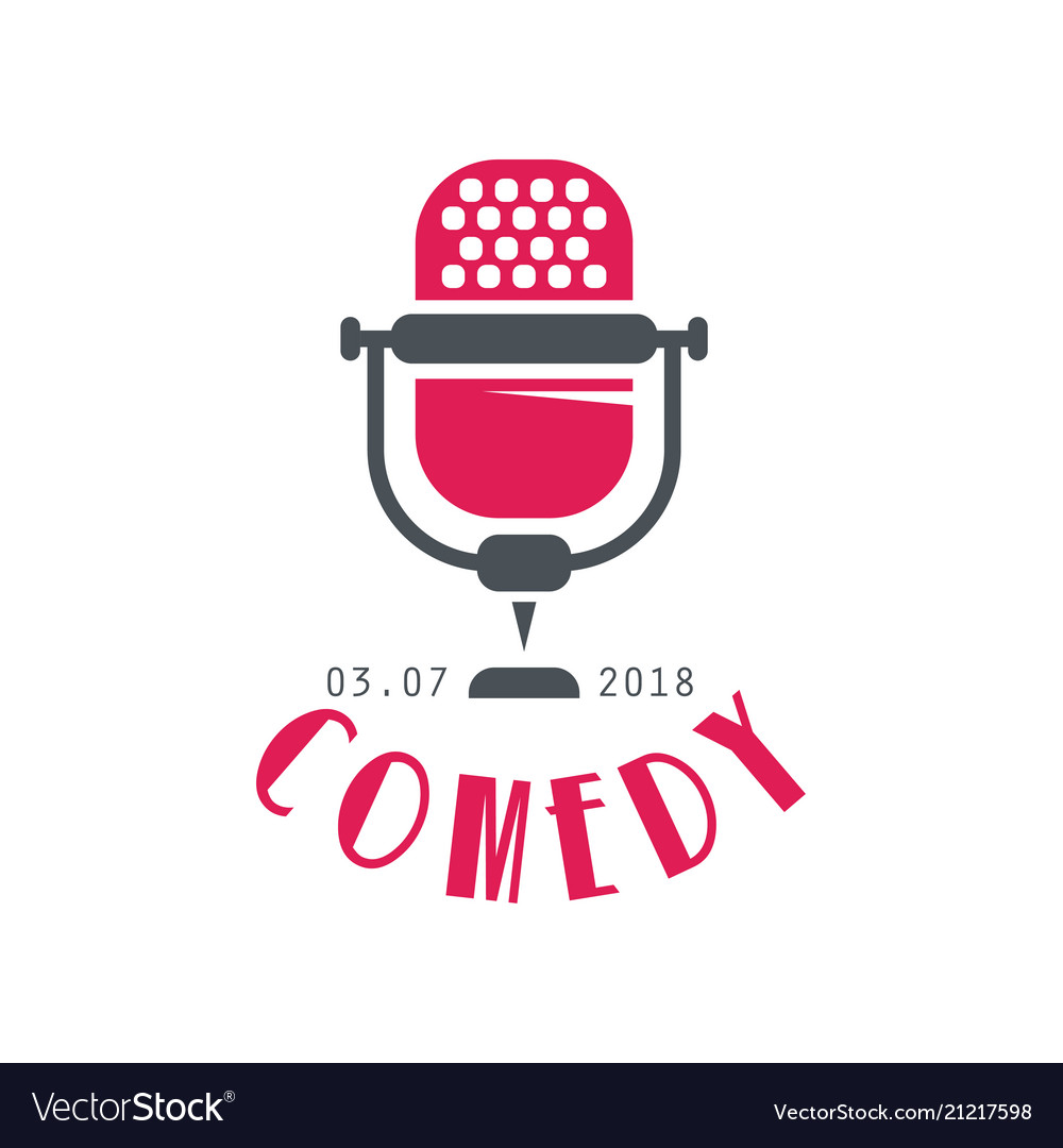 Comedy logo design element for comedy show poster.