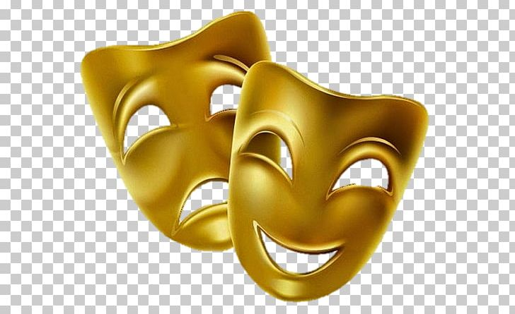 Comedy Theatre Tragedy Mask PNG, Clipart, Art, Comedy, Drama, Gold.