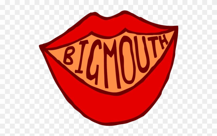 Big Mouth Comedy Night Clipart.