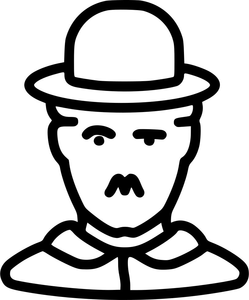 Charlie Chaplin Cinema Artist Comedy Human Avatar Celebrity Svg Png.