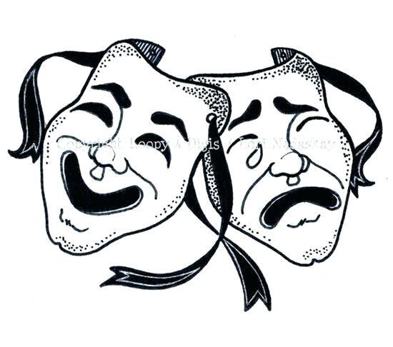 comedy tragedy masks.