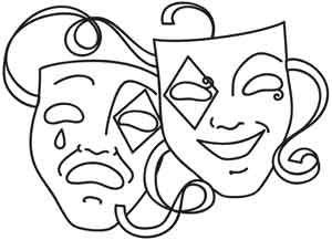 Theatre Masks Drawing at GetDrawings.com.