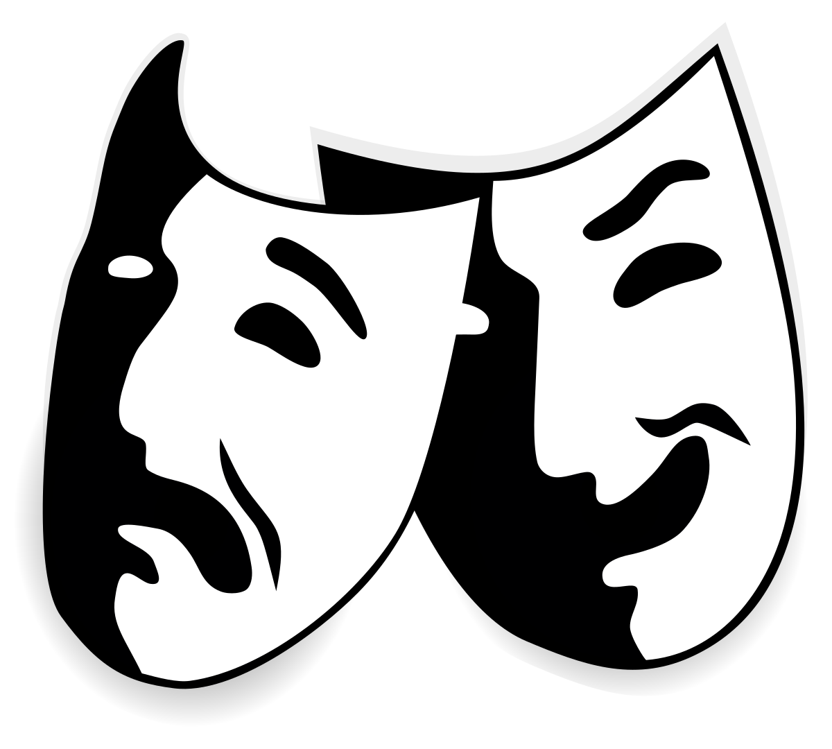 File:Comedy and tragedy masks without background.svg.