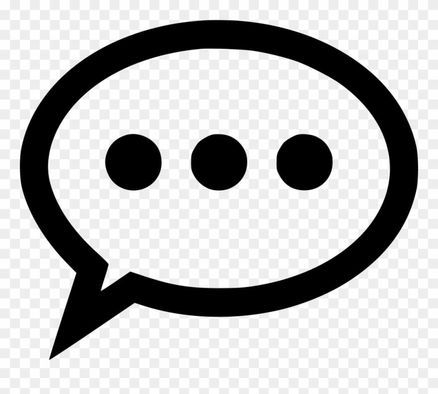 Comment Outline Silence Comments Clipart (#2839443).
