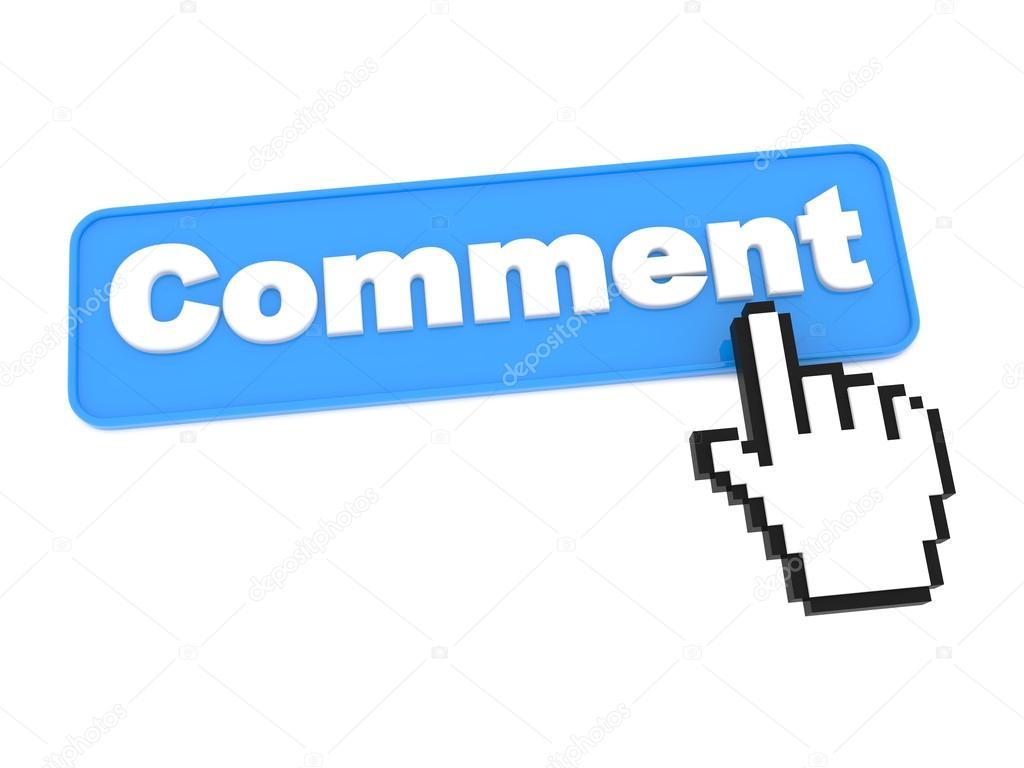 Comment Button. Isolated on White. — Stock Photo © tashatuvango.