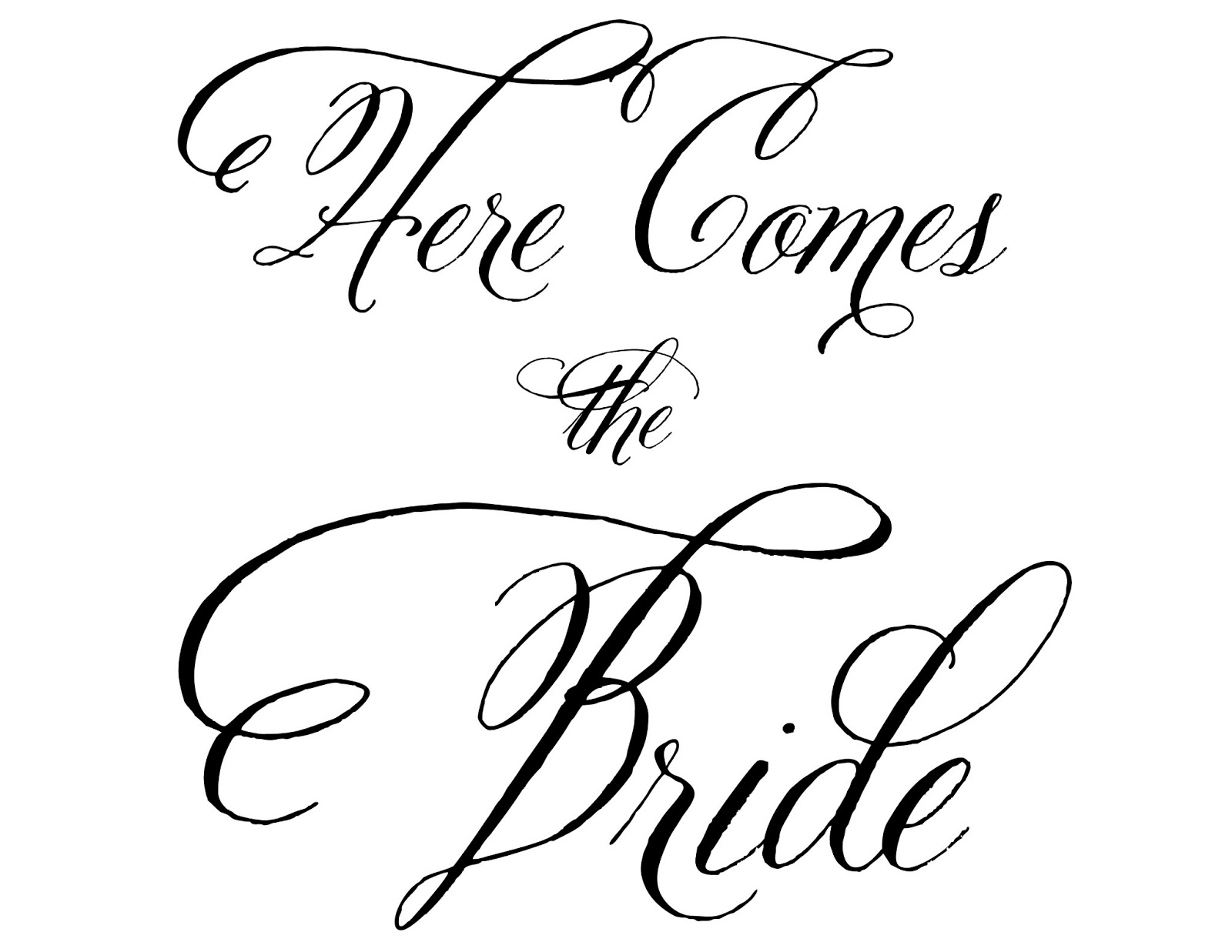 Here comes the bride clipart.
