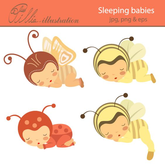 This adorable Sleeping babies clipart comes with 4 clipart.