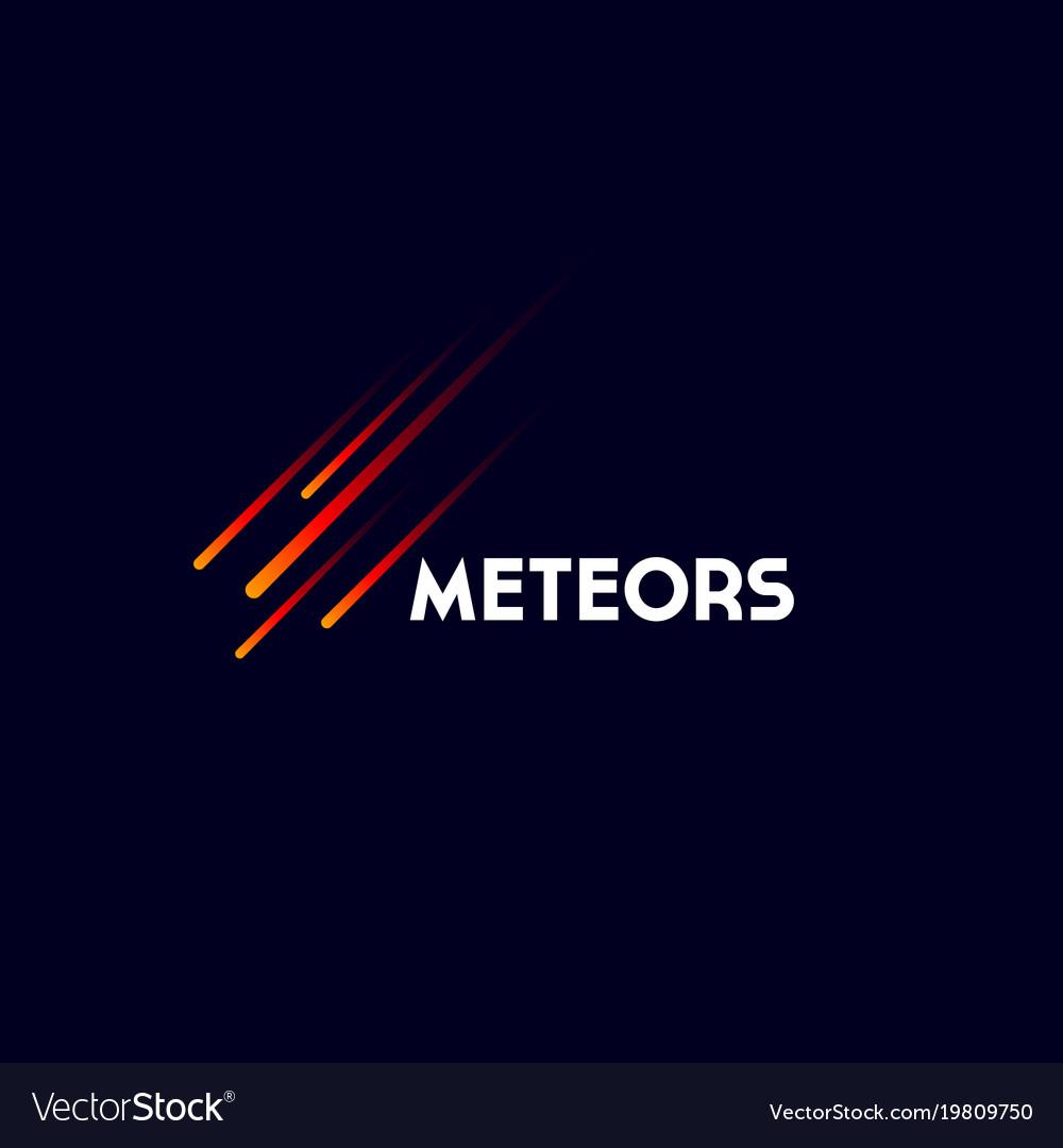 Meteors or comet logo.