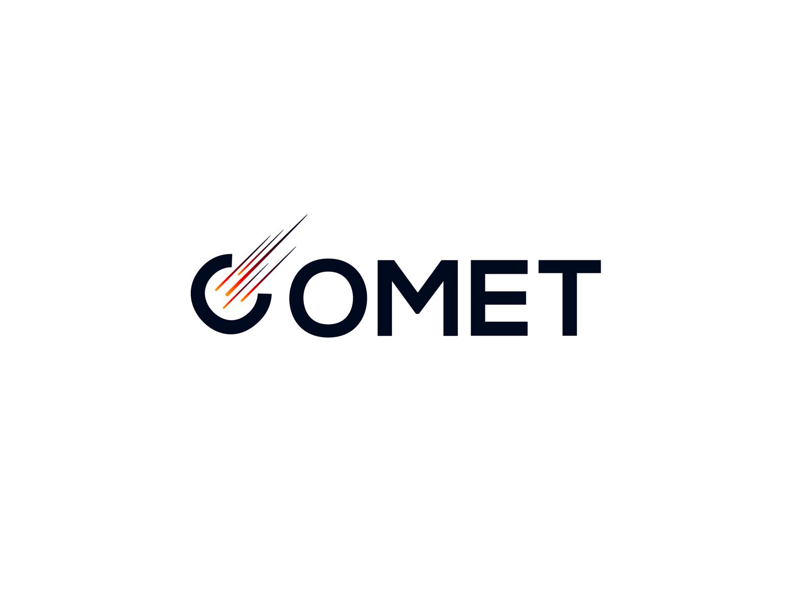 Comet logo by Tushar Saini on Dribbble.