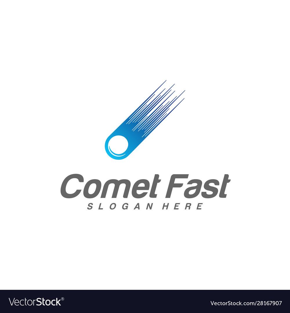 Comet logo comet logo design template icon symbol.