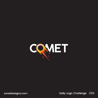 Daily Logo Challenge Day 1 Comet.