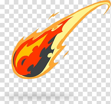Fireball , Comet Tail Drawing transparent background PNG.