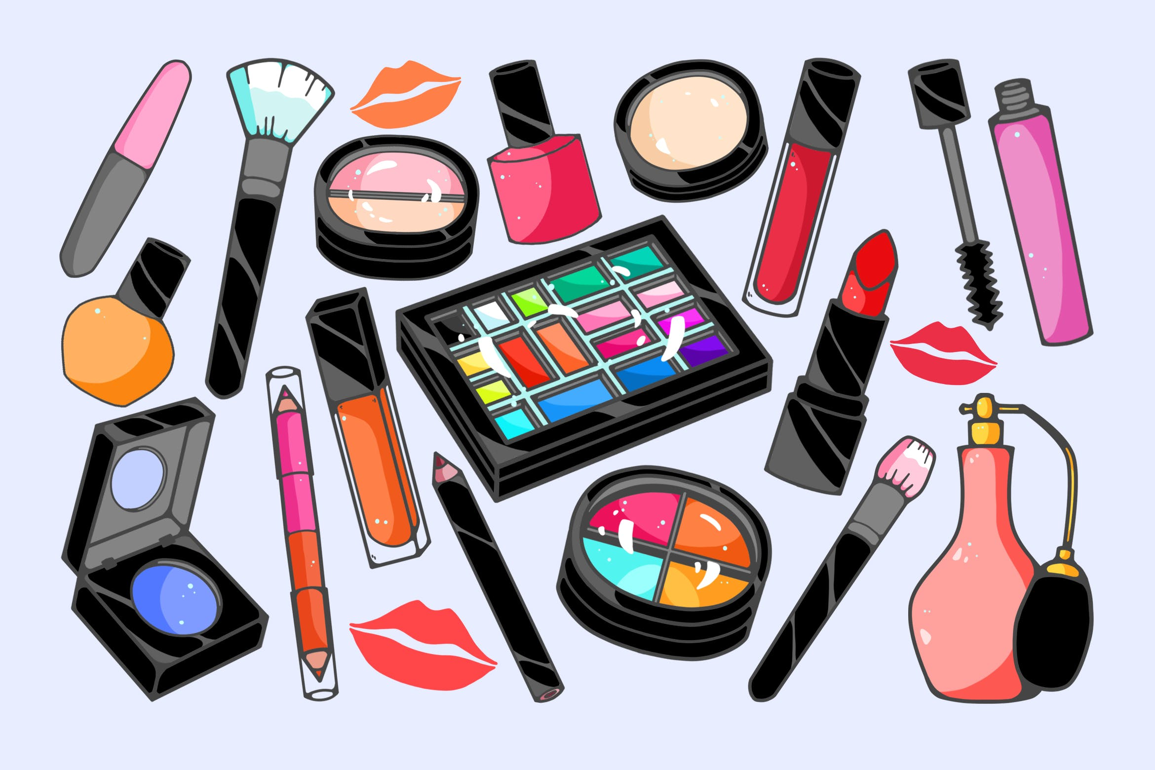 Cosmetics Clipart by Jumsoft on Envato Elements.