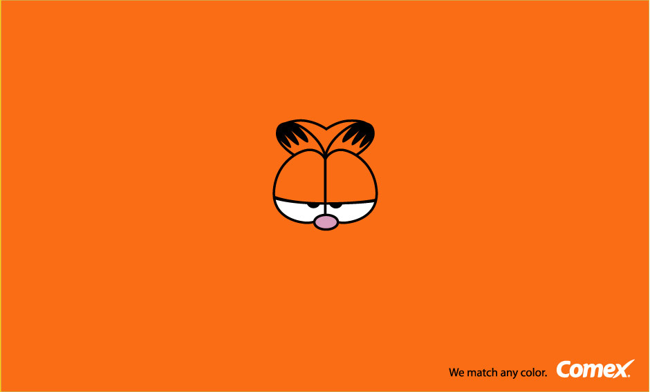 Comex Print Advert By RT&A: Garfield orange.