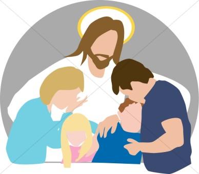 Jesus comforting clipart.