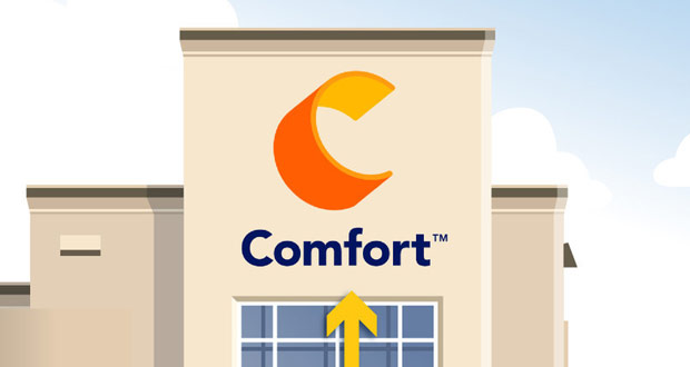 Comfort Brand Unveils New Logo at Choice Hotels\' Annual.