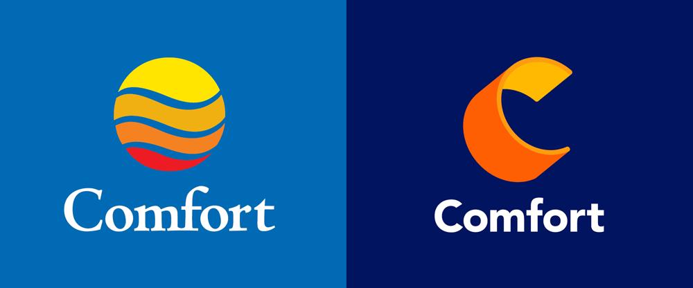 Brand New: New Logo for Comfort by Landor.