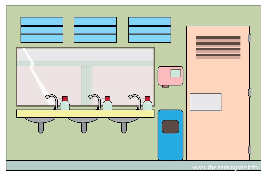 School Comfort Room Clipart.