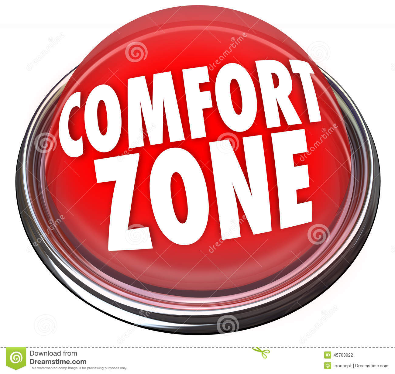 Comfort Zone Words Button.